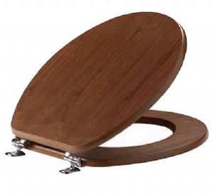 Matt Walnut Effect Toilet Seat